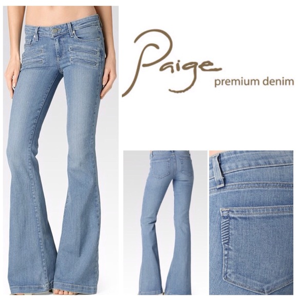 57775210f9276 Paige Fiona Flare-Paulina Denim Jeans. NWT.