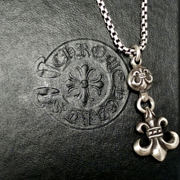 Chrome hearts jewelry chrome hearts double fleur de lis sterling chrome hearts double fleur de lis sterling pendant aloadofball Images