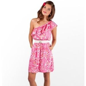 Lilly Pulitzer one shoulder Jessy dress