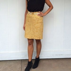Gold swirl skirt