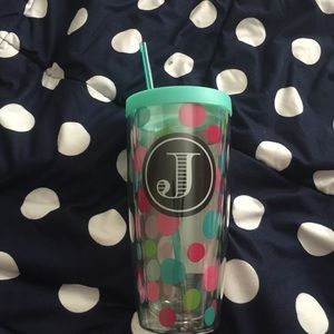 Other - Polka dot J initialed cup