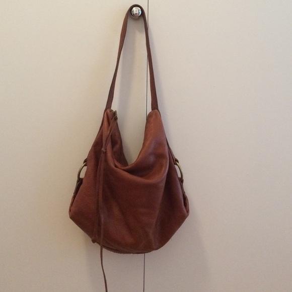 Banana Republic Handbags - Cognac leather Banana Republic hobo bag 51226bc00a530