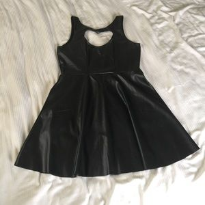 Poof Couture Dresses & Skirts - NWOT Black Pleather Heart Dress