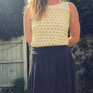 Yellow and white Ann Taylor top