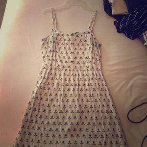 H&M black and white rose print dress