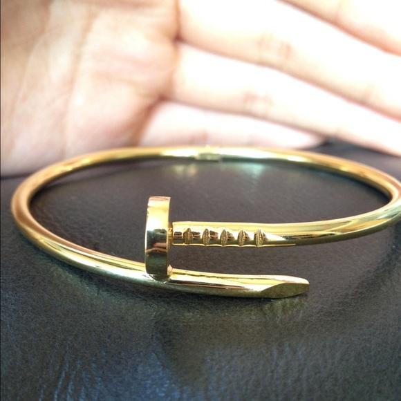 Brandy Melville Accessories , Gold bent nail bracelet KYLIE JENNER