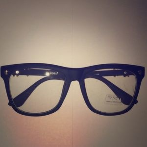 Accessories - New punk style black glossy clear lens glasses