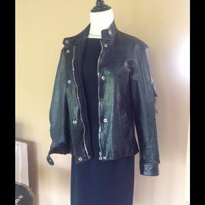 PRICEDROP CharlesChang-Lima BlackLeather Jacket XS
