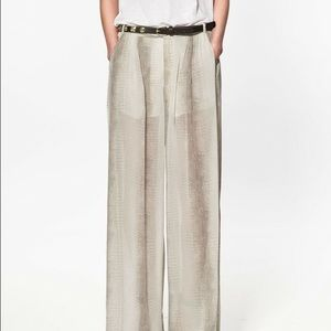 Zara Pants - Snake Print Wide Leg Trousers