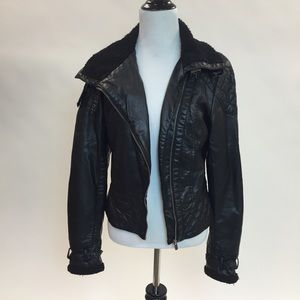 Zara Jackets & Blazers - Faux Leather Jacket w/ Shearling