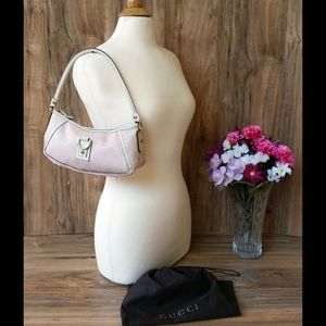 Pink Auth Gucci shoulder bag w dust bag FIRM,