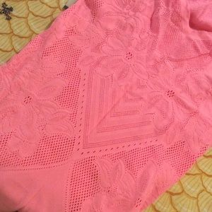 Free People Tops - Free People Stretch Mesh Neon Pink