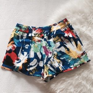 Zara Pants - Zara Bright Paint Stroke Pattern Shorts 🎨
