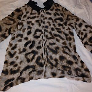 Animal print blouse by Nicole miller