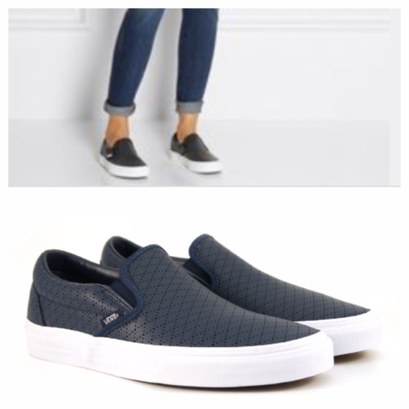 vans classic perforated slip on sneaker