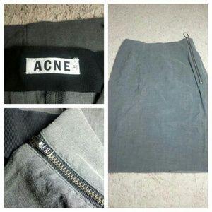 Acne Dresses & Skirts - Acne Studios Grey Zipper Pencil Skirt