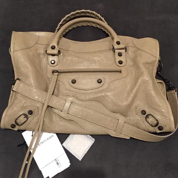 764abc5961c Balenciaga Bags | Preloved City In Latte | Poshmark