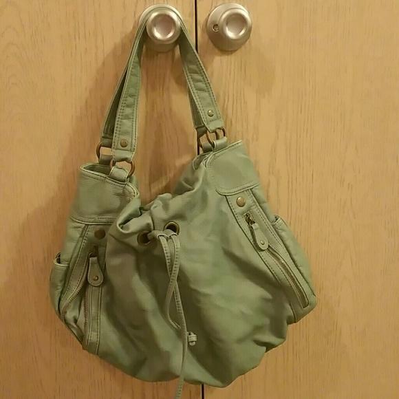 75% off Bueno Handbags - Green Soft Leather Handbag from Creni's ...