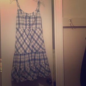 American Eagle Blue Plaid Sundress