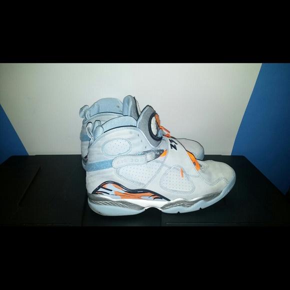 watch 6c317 26c52 Jordan Shoes - Air Jordan 8 Ice Blue   Orange Blaze   Silver