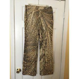 Roberto Cavalli Pants - Roberto Cavalli Leopard Print Pants