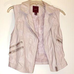 Faux leather vest - size 4
