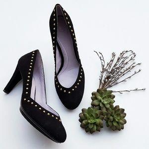 Johnston & Murphy  Shoes - Johnston & Murphy Lani Studded Suede Heels