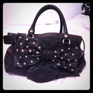 RED Valentino Handbags - Red Valentino Studded Bow Leather Satchel