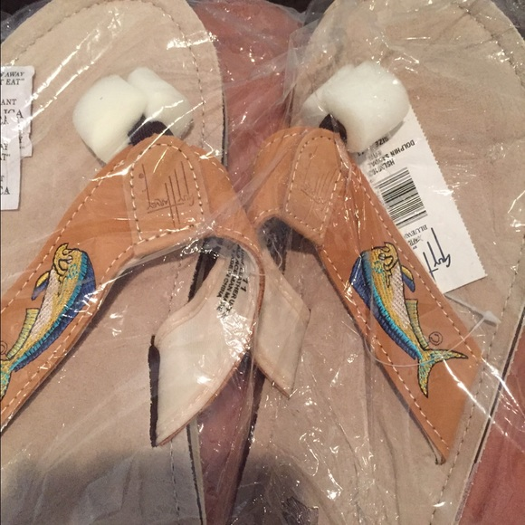 d37324551a76 Guy Harvey flip flops size 11 never worn mens