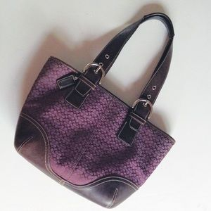 {Coach} Purple Monogram Tote