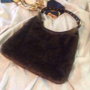 Handbags - Pritzi Faux Fur Handbag