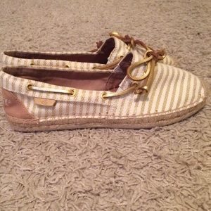 Sperry Top-Sider Shoes - Super cute NEW women's Sperry Topsider gold shoes!