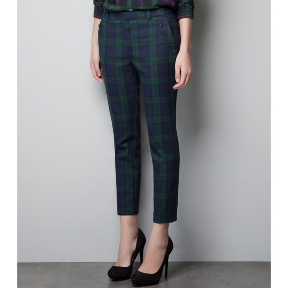 Zara - Zara Tartan Plaid Cropped Trouser Pants from Katharine's ...