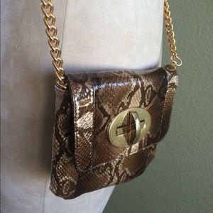 Zina Eva Bags - Patent Python print Zina Eva handbag