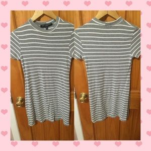 Grey striped tshirt dress