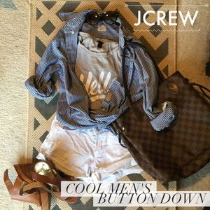 J. Crew Tops - JCrew oversized button down. Except for cool girls
