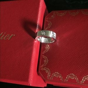 LOOKS NEW/Authentic Cartier 3 Diamonds Love Ring