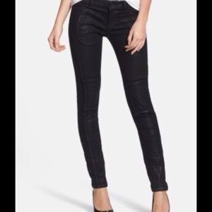 MICHAEL KORS JET SET WAXED DENIM SKINNIES