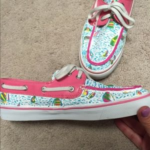 11c2d09ced683e Lilly Pulitzer Shoes - EUC custom Lilly sperrys sz 7.5