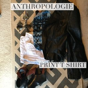 Anthropologie Tops - Anthropologie tribal print shirt. Amazing