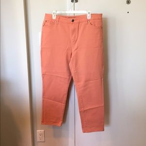 Ellen Tracy Denim - Ellen Tracy Stretch Coral Skinny Jeans