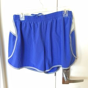 GAP Pants - Blue/grey/light blue GapFit Gstride Shorts