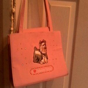 "Handbags - Pink "" I love Yorkshire Terrier"""
