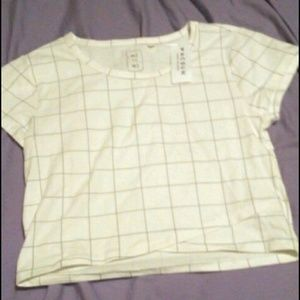 Grid crop top