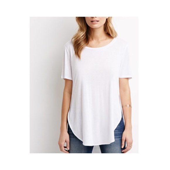 76% off Tops - White flowy t shirt from ! hannah's closet on Poshmark