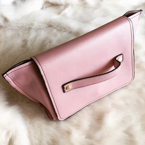 Zara Clutches & Wallets - New Zara Pink Foldover Clutch & Crossbody Bag