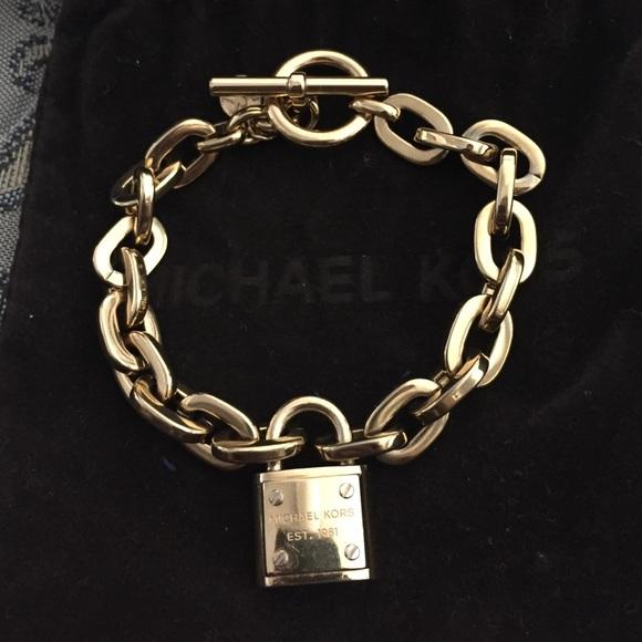 ec53107f58efd0 Michael Kors Jewelry | Padlock Bracelet Gold | Poshmark