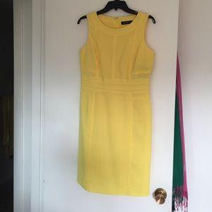 Ellen Tracy yellow pencil dress, size 8