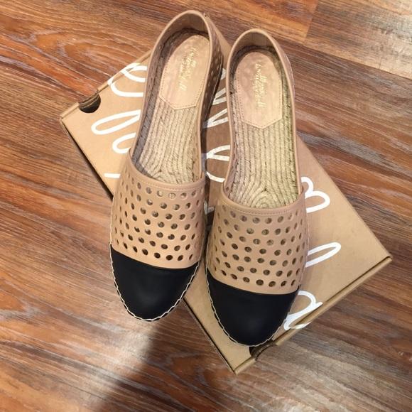 Mara laser-cut leather espadrille flats