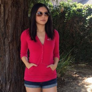Hollister Tops - Hot Pink Sweatshirt Style Top